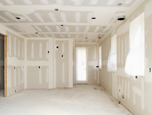Hanging Drywall - hung and ready
