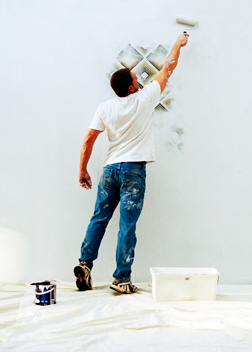 drywall expert painting wall